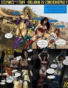 9 Superheroines vs Warlord