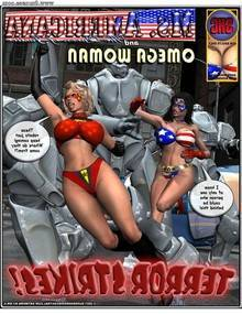 Ms Americana and Omega Woman – Terror Strikes